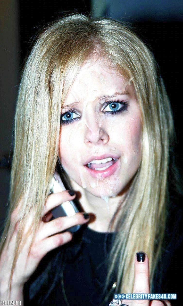 lavigne cum facial Avril