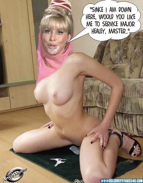Barbara Eden Fake, Captioned, Cum Facial, Cumshot, I Dream of Jeannie (TV Series), Nude, Series, Tits, Porn