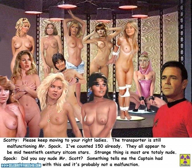Barbara Eden Fake, BDSM, Bondage, Captioned, Lesbian, Multi, Series, Star Trek, Tits, Very Nice Tits, Porn