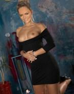 Becki Newton Horny Boobs Flash Naked 001