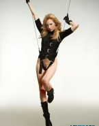 Beth Riesgraf No Panties Leverage Nude 001