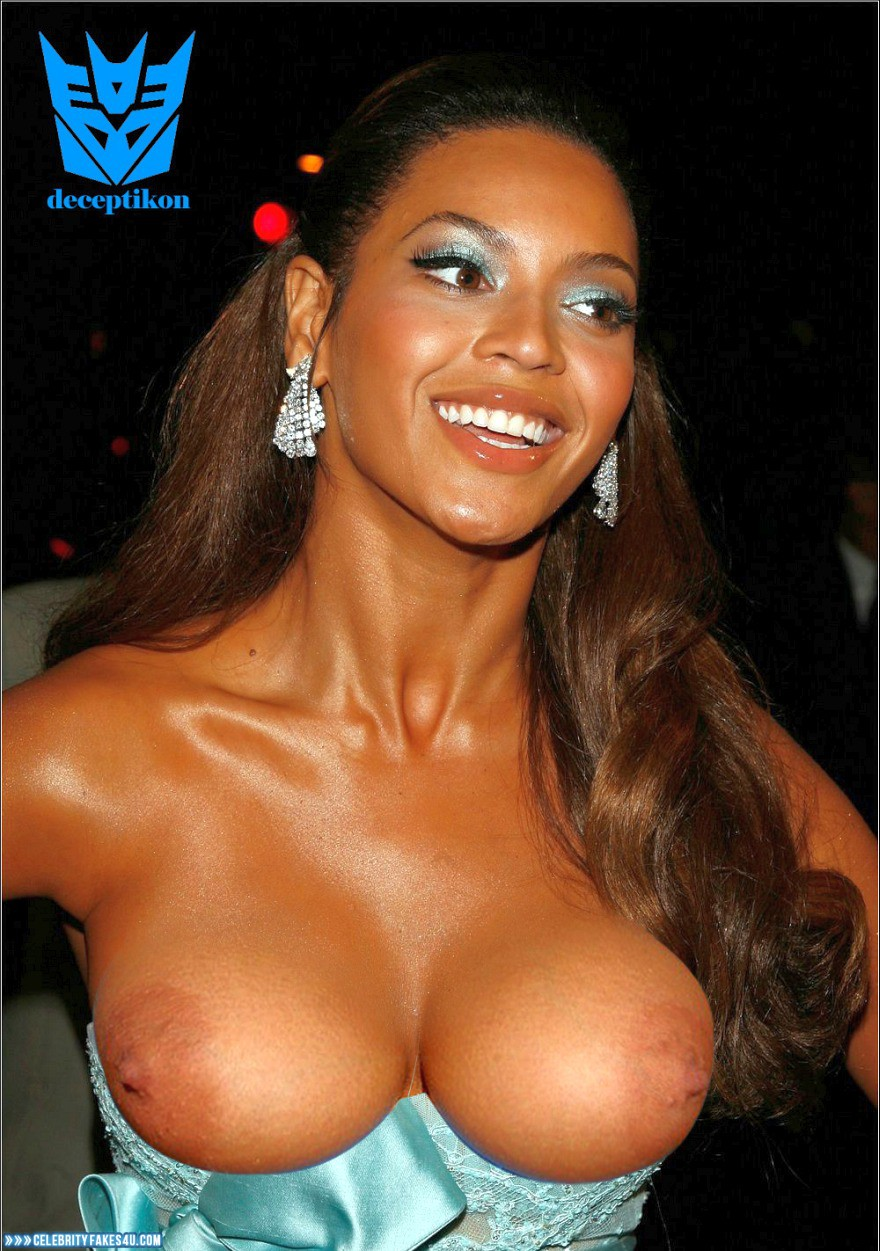 Beyonce Knowles Boobs Public Naked 001  Celebrity Fakes 4U-6114