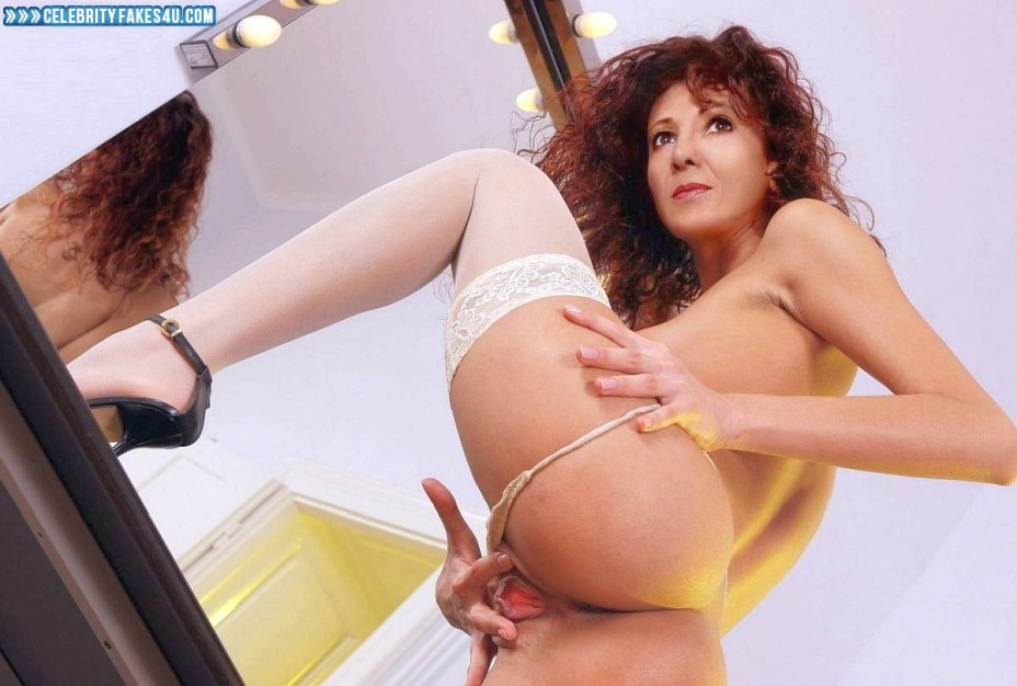 Bonnie Langford Fake, Ass, Panties Pulled Aside, Pussy Spread, Stockings, Porn