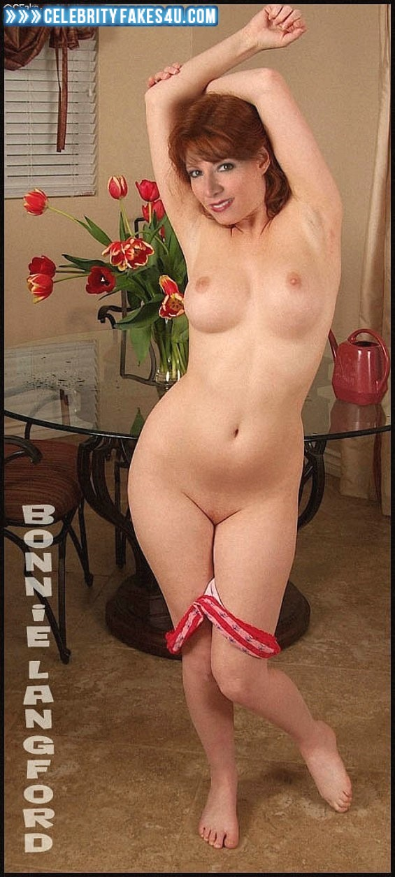 Bonnie Langford Fake, Completely Naked Body / Fully Nude, Panties Pulled Down, Sexy Flat Stomach, Tits, Undressing, Porn