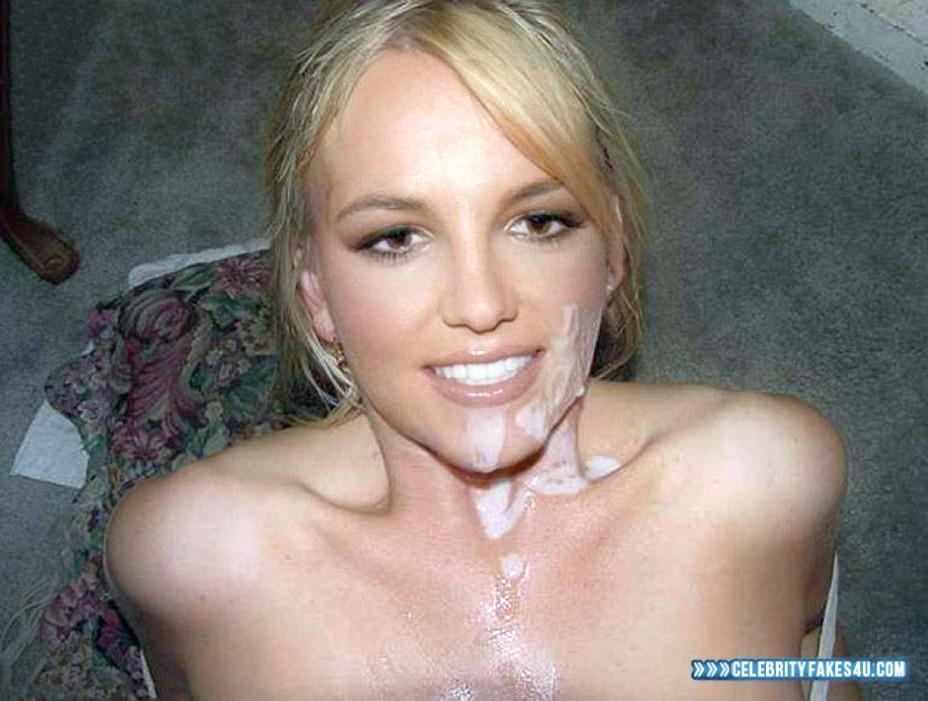 Britney Spears Fake, Cum Facial, Homemade, Porn