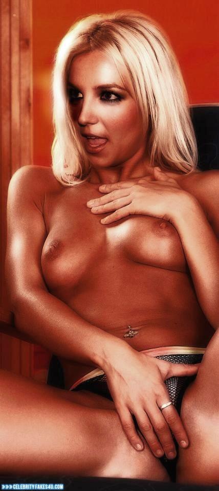 Britney Spears Fake, Masturbating, Thong, Tits, Porn