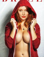 Bryce Dallas Howard Big Boobs Magazine Cover Naked Fake 001