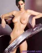 Carrie Anne Moss Nude Body Great Tits 001