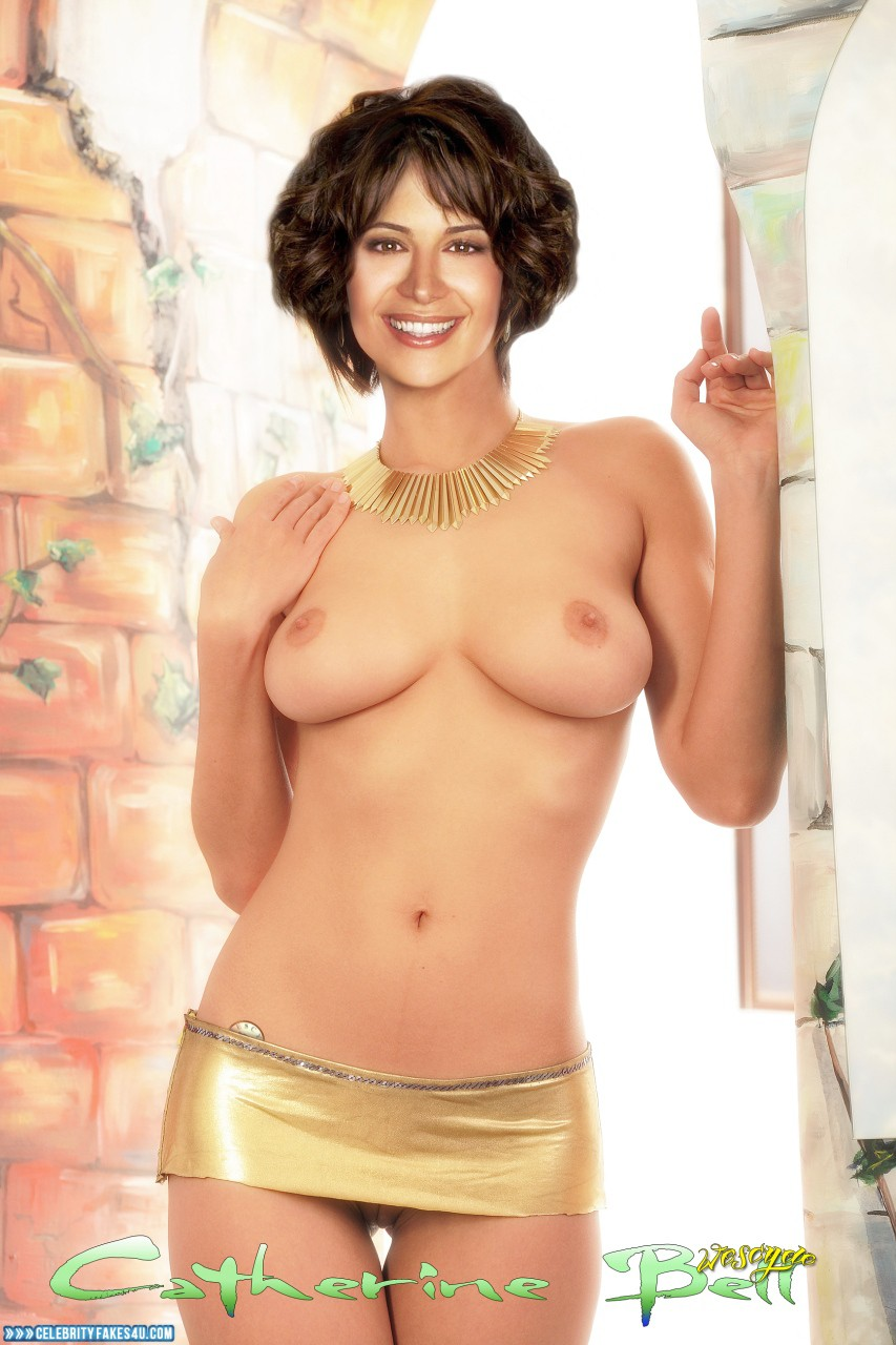 Catherine Bell Fake, Pantiless, Topless, Porn