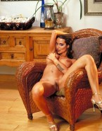 Catherine Bell Without Underwear Squeezing Tits 001
