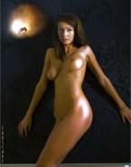 Claudia Black Naked Body Boobs Fake 001