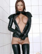 Cosma Shiva Hagen Hot Outfit Latex Nude 001