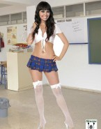 Cristina Pedroche Skirt Stockings Naked Fake 001