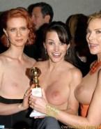 Cynthia Nixon Lesbian Public Naked Fake 001