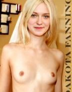 Dakota Fanning Boobs Blonde Nsfw Fake 001