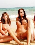 Daniella Monet Beach Lesbian Fake 001