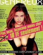 Denise Richards Exposed Boobs Magazine Cover 001