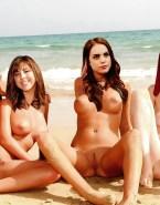 Elizabeth Gillies Beach Lesbian Naked 001
