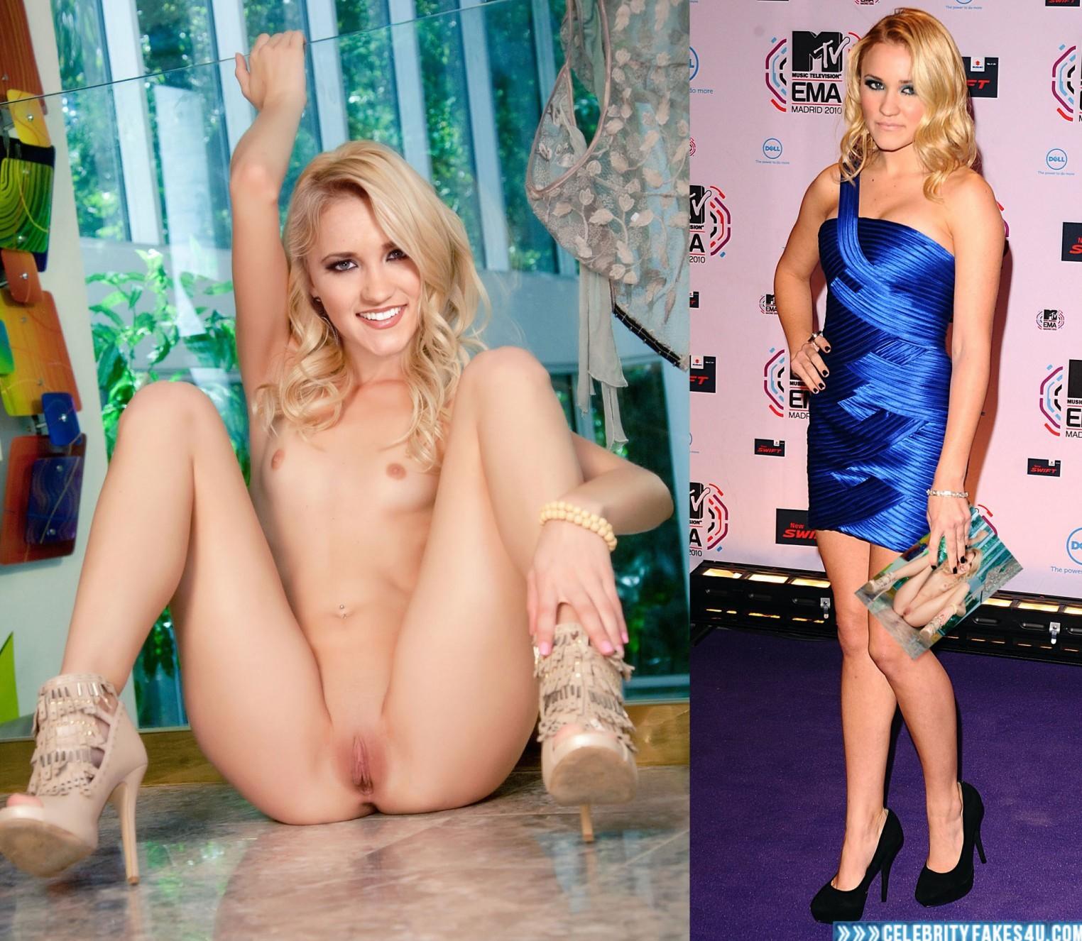 Emily osment naked legs spread #1