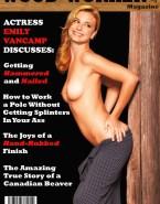 Emily Vancamp Skirt Magazine Cover Porn 001