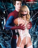 Emma Stone Leather Spider Man Nude Fake 001