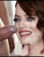 Emma Stone Handjob Facial Cumshot Porn Sex Fake 001