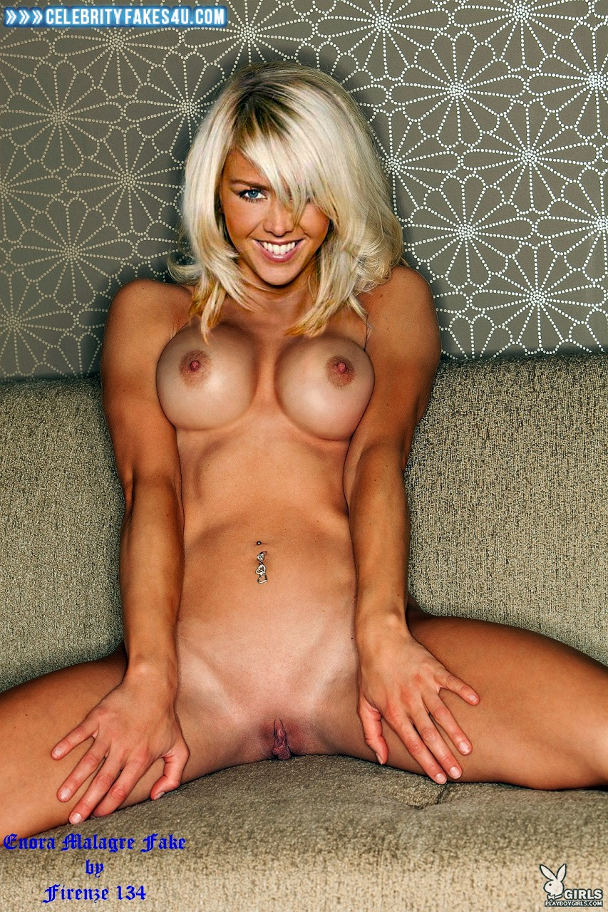 Enora Malagre Fake, Blonde, Completely Naked Body / Fully Nude, Legs Spread, Tits, Porn