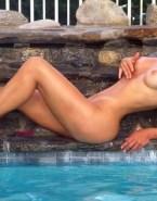 Faith Hill Pool Wet Naked Fake 001