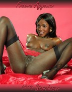 Freema Agyeman Lingerie Pussy Fake 001