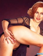 Gillian Anderson Bent Over Spread Pussy Porn 001