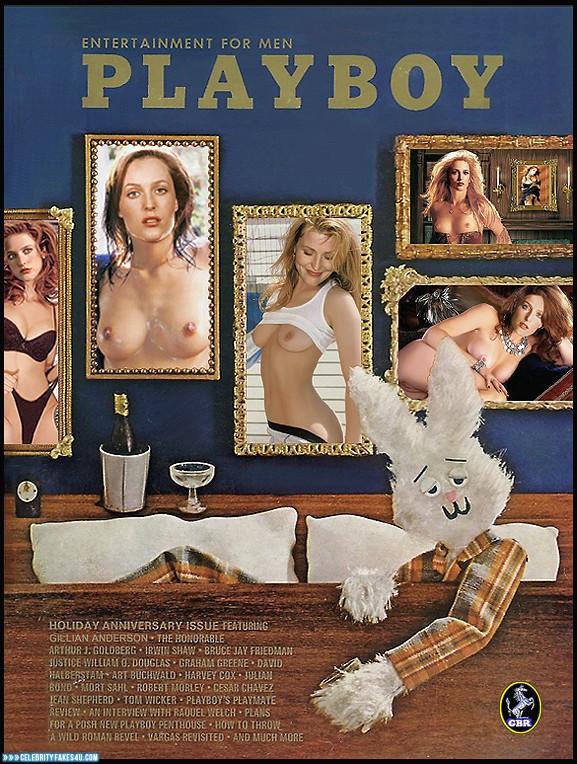 Gillian Anderson Fake, Nude, Playboy, Tits, Porn