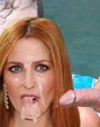 Gillian Anderson Swallows Cum Facial Cumshot Nude Sex 001