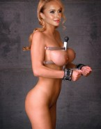 Hayden Panettiere Squeezing Tits Bondage Naked 001
