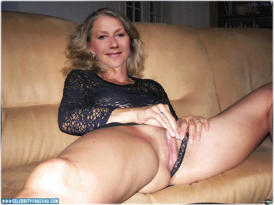 Helen Mirren Fake, Homemade, Horny, Masturbating, Panties Pulled Aside, Porn
