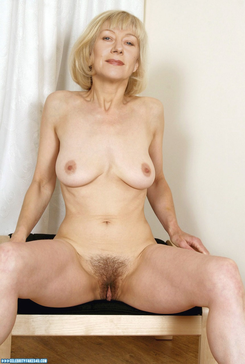 Helen Mirren Fake, Hairy Pussy, Horny, Legs Spread, Sexy Flat Stomach, Tits, Porn