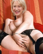 Helen Mirren Squeezing Tits Rubbing Her Pussy Nude 001