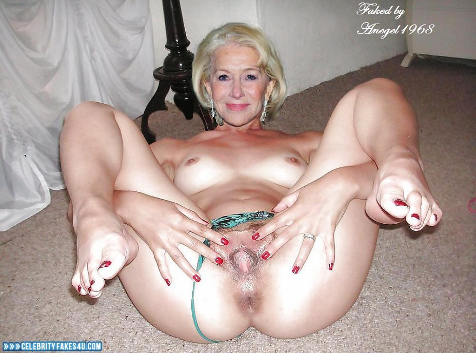 Helen Mirren Fake, Ass, Homemade, Panties Pulled Aside, Pussy Spread, Tight Pussy, Porn