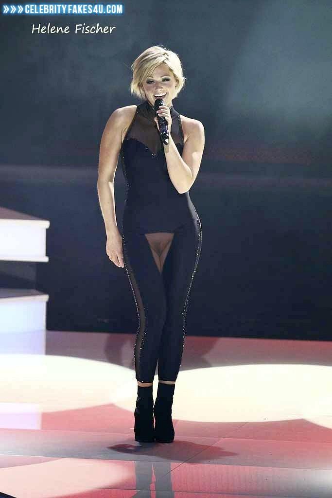 Helene Fischer Without Underwear Public Naked 001