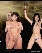 Holly Marie Combs Boobs Squeezed Bondage Nude Fake 001