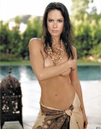 Holly Marie Combs Sideboob Squeezing Tits Naked Fake 001