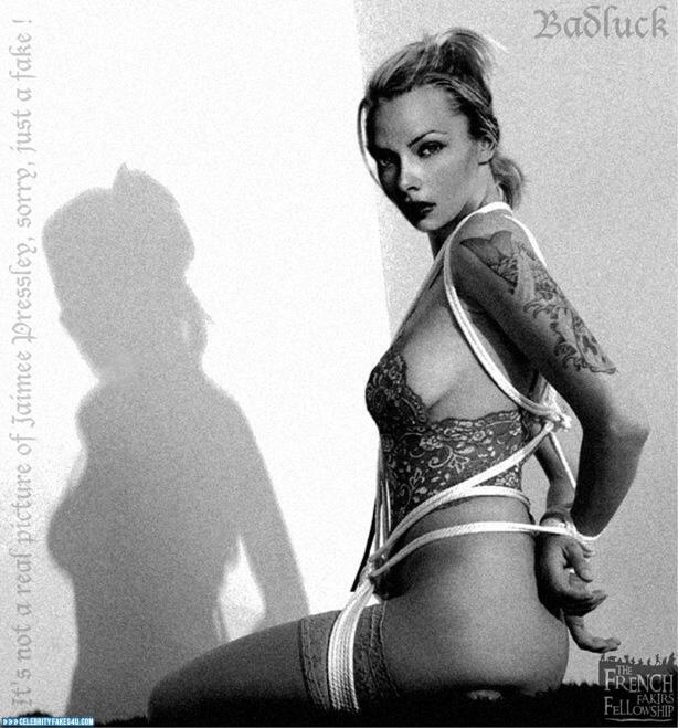 Jaime Pressly Fake, BDSM, Bondage, Tattoos, Porn