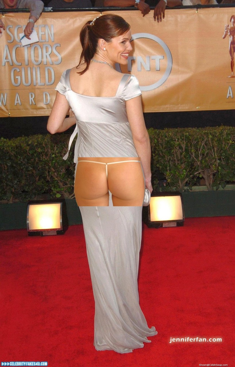 Jennifer Garner Fake, Ass, Public, Red Carpet Event, Thong, Porn