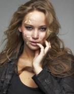 Jennifer Lawrence Horny Facial Cumshot Naked 001