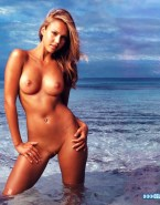 Jessica Alba Beach Nude Body Fake 001