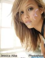 Jessica Alba Facial Cumshot Porn 001