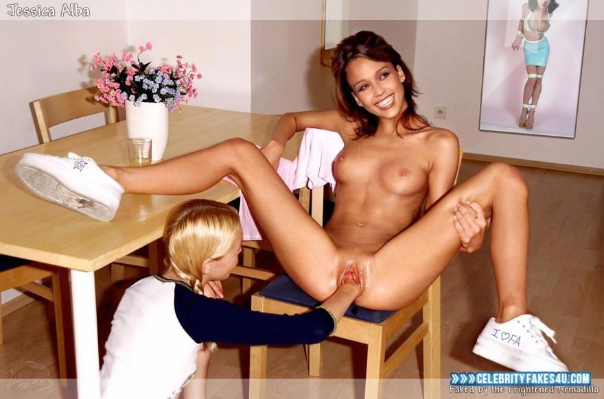 Jessica Alba lesbica porno