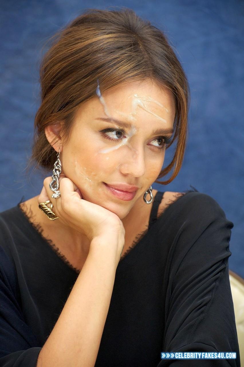 Jessica Alba Horny Cum Facial Fake 001 « Celebrity Fakes 4U