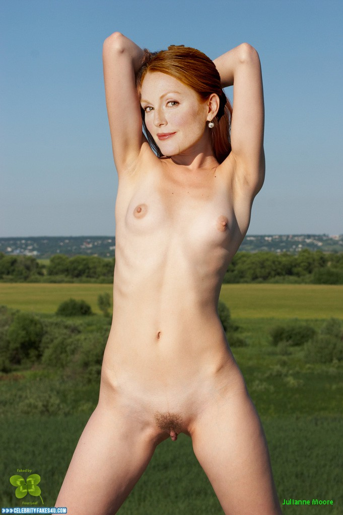 Julianne Moore Naked Body Small Tits 001  Celebrity Fakes 4U-9512