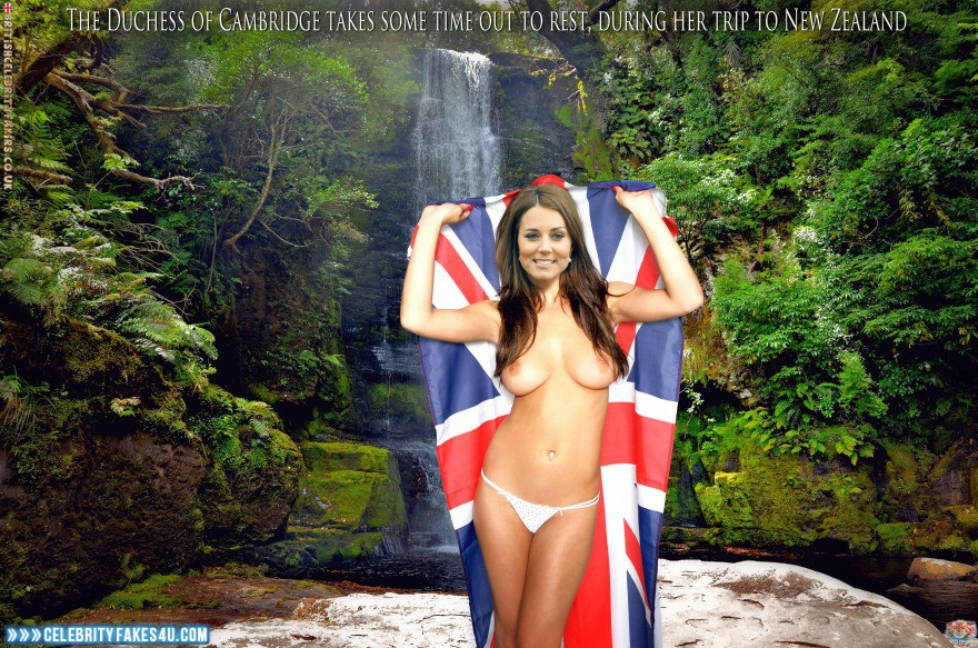 Kate Middleton Fake, Outdoor, Thong, Tits, Very Nice Tits, Porn