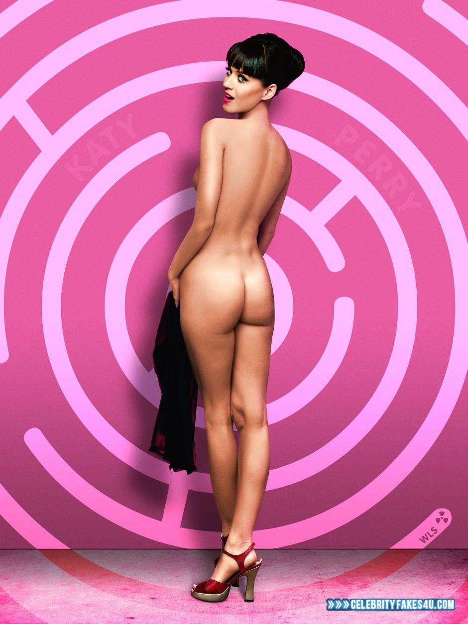 Katy Perry Fake, Ass, Heels, Lipstick, Nude, Porn